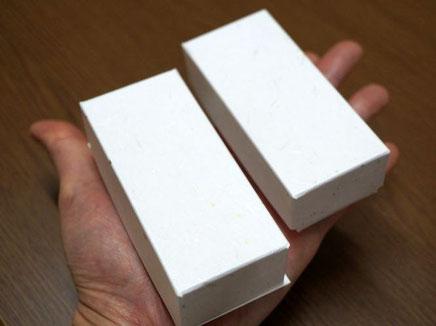 別注で作製した貼り箱は手のひらサイズでお仕立てしました