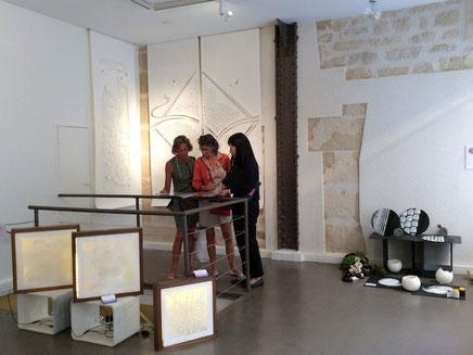 パリデザインウィーク2014に商空間を演出する大判和紙のkon-gara作品を出展