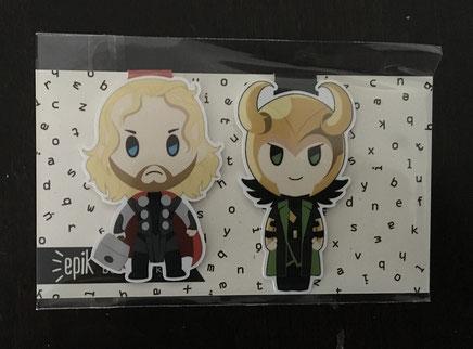 Magnetische Lesezeichen Loki und Thor von Epik Page