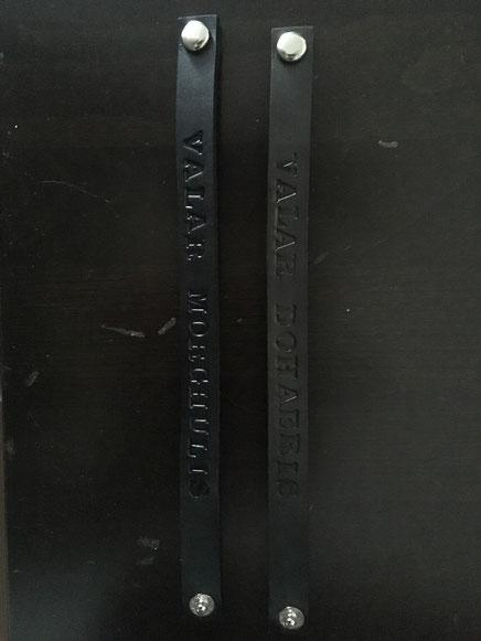 """1 von 2 verschiedenen Lederarmbändern """"Valar Morghulis"""" oder """"Valar Dohaeris"""" von LongbeardLeather"""
