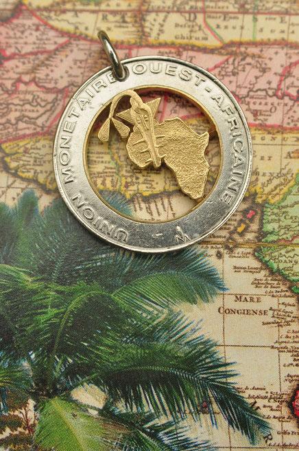 Münzsägewerk Katrin Thull | Togo - Landkarte
