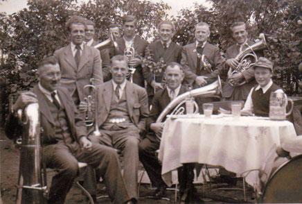 Gartenfest bei Frommel in Boos 1948