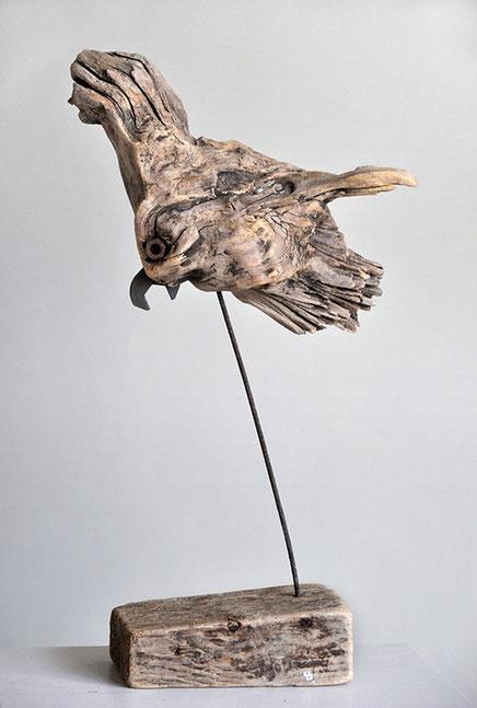 Christine Grandt - Treibholzkunst, maritime Geschenkidee zur Hochzeit, Jubiläum, Geburtstagsgeschenk, Vogel, Treibholzskulptur, Schwemmholz, Miniatur, Skulptur