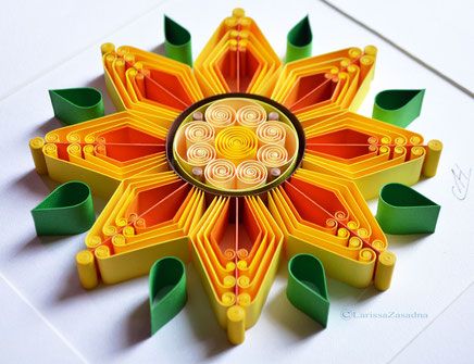quilling , art, paper art, quilling paper art, sunflower,  quilling art, wedding gift , gift for mom, unigue art quilling wall art, paper,  quilling wall art, artwork, квиллинг, Larissa Zasadna, Лариса Засадная, Квиллинг бумага