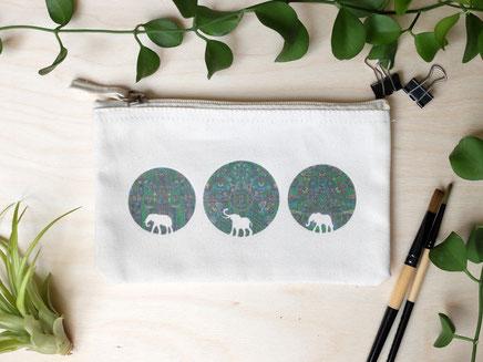 Täschchen Elefanten Michael Clarke Art