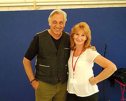 Catherine Watel avec Stéphane Thebaut (La Maison France 5)