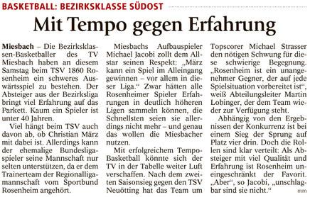Artikel im Miesbacher Merkur am 19.11.2016 - Zum Vergrößern klicken