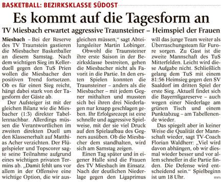 Artikel im Miesbacher Merkur am 18.11.2017 - Zum Vergrößern klicken