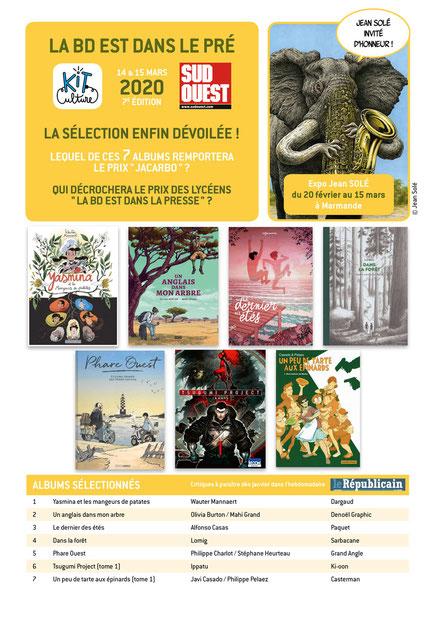 Selection Prix Jacarbo 2020 - Festival de BD, La BD est dans le pré 2020