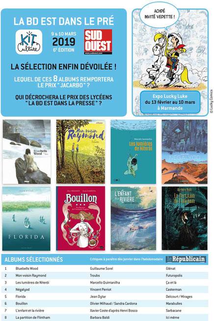 La BD est dans le pré, festival de BD, sélection prix jacarbo 2019
