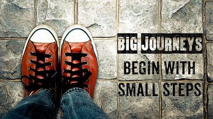een weg van duizend stappen begint met de eerste stap, stap, de vervolgstappen, coach, coaching