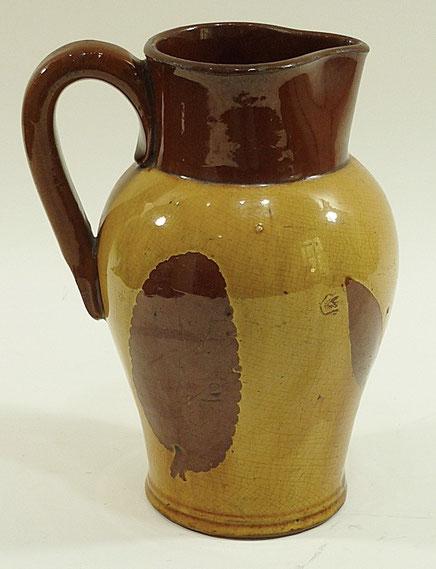 Ewenny folk art slip ware jug