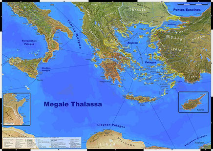 Das klassisches Griechenland Karte Antike