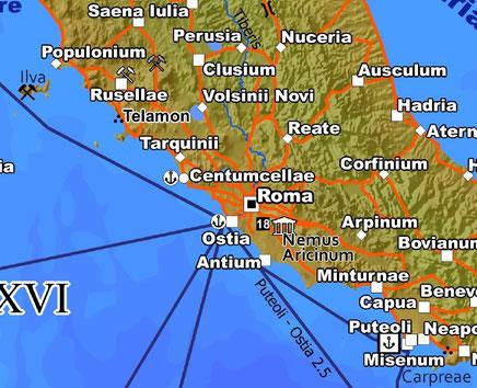 Rom und sein Umfeld in der ersten Auflage