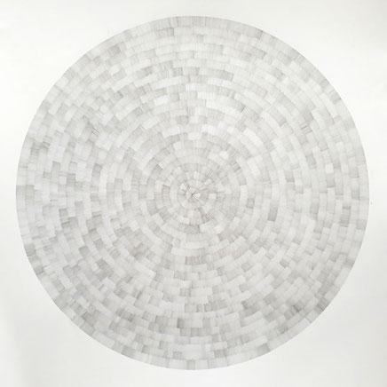 Gewebe (radial) VI, 2021, Bleistift auf Papier, 50 x 50 cm