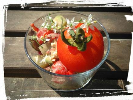 Idée recette salade estivale au basilic