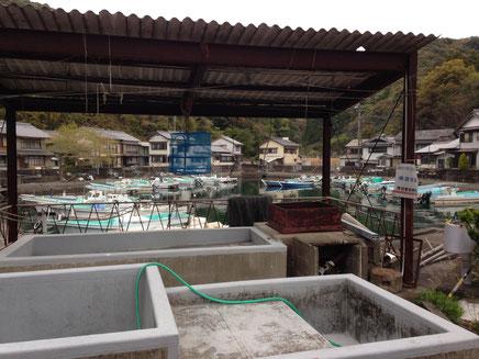 港の共同洗い場