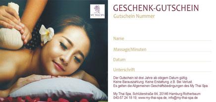 Massagegutschein - zu fast jedem Anlass eine schöne Geschenkidee