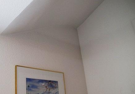 Fogging-Effekt an einer Wand