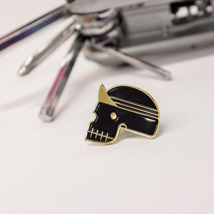 Enamel Cyclist Pin