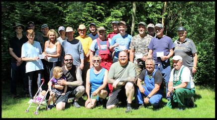 21 Teilnehmer beim AVL Hegeangeln.