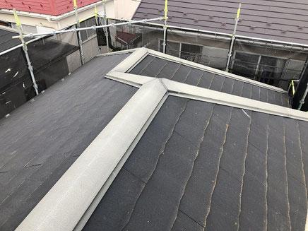 さいたま市の戸建住宅、屋根塗装工事前の写真