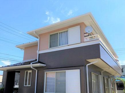 春日部市の戸建住宅、外壁塗装工事完成後の写真