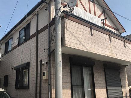さいたま市の戸建住宅、外壁塗装工事前の写真