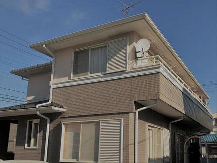春日部市の戸建住宅、外壁塗装工事前の写真