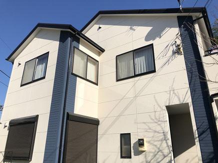 さいたま市の戸建住宅、外壁塗装工事完成後の写真