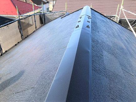さいたま市の戸建住宅、屋根塗装工事完成後の写真