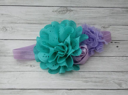 Turquoise and purple chic headband