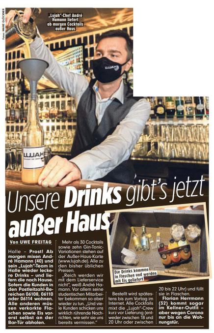 BILD Sachsen-Anhalt Halle (Saale) Ausgabe 11.11.2020 #locktail