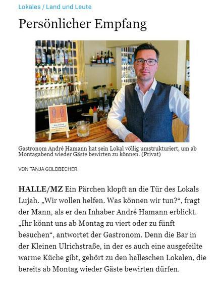 Mitteldeutsche Zeitung Ausgabe 15.05.2020