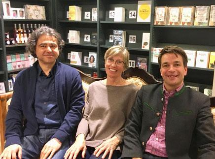 Auf dem Bild von links nach rechts: Hassan Taha (5. + 6. Juni), Inge Richard (5. Juni), Christian Holenstein (6. Juni)