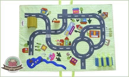Car play mat tutorial, Roadway mat, Street mat, Activity mat