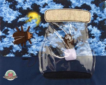 Spielbuch nähen Glühwürmchen Quiet book beetle