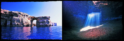 Azure Window Gozo and Comino Caves