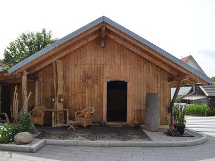 Eingangsbereich zu den Räumlichkeiten unserer Sonnenhütte.
