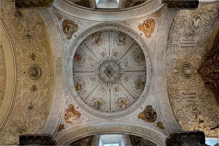 Photographie, Espagne, Andalousie, Séville, coupole, baroque, fresque, église de l'hôpital de la Charité, art, Mathieu Guillochon.