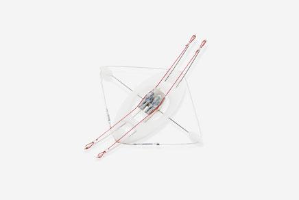 """PANTONAUTES""  2021  (""Blanco...White...Weiss..."" Sala perill project) methacrylate, silver, steel, plastic 12x14x4,5 cm.  14 gr."