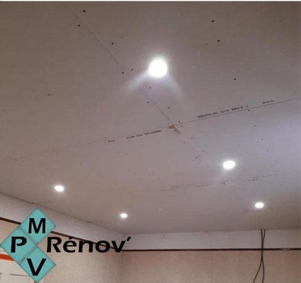 Rénovation d'un plafond par Mpv Rénov à Ribaute les Tavernes