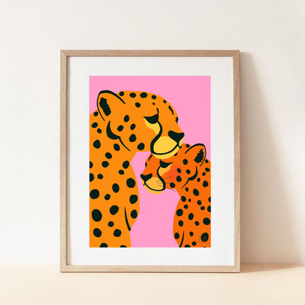 cheetah lovers cheetah illustration
