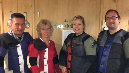 1. Mannschaft 2016/17: T.Schlabitz, S.Schlabitz,  M.Mayer, A.Ferwagner  (von links)