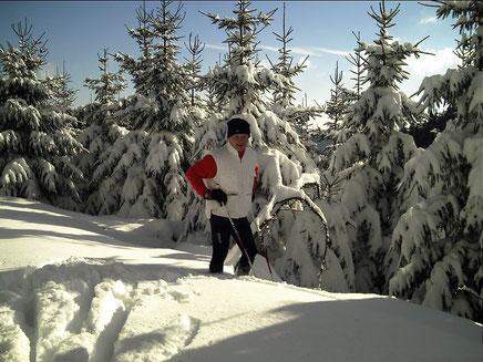In Wittgenstein und im Sauerland erkundet Gerd Langenbach gern die weiße Winterwelt.