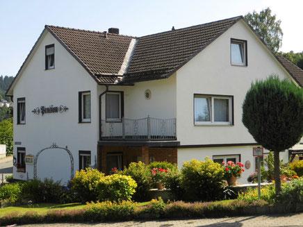 """Unsere Pension in Bad Berleburg """"Haus Langenbach"""" liegt zentral, aber ruhig im Stadtkern."""