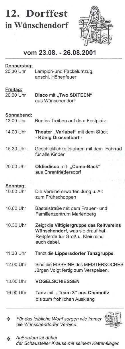 Bild: Wünschendorf Erzgebirge Dorffest 2001