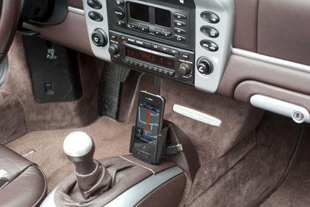 iphonekonsole im porsche boxster mit CD-23 radio