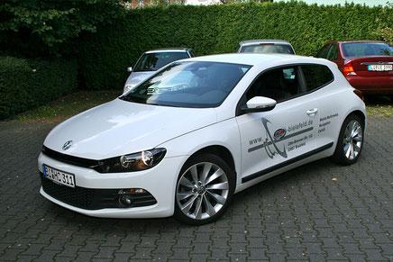 VW Scirocco III mit verstecktem Hifieinbau aussenansicht