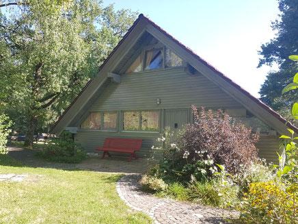Nordseite unseres Ferienhauses am Chiemsee